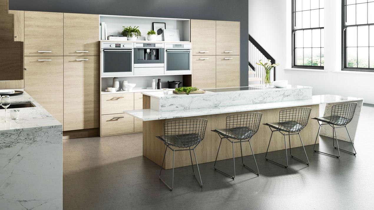 EA Kitchens Comtemporary Sand Oak