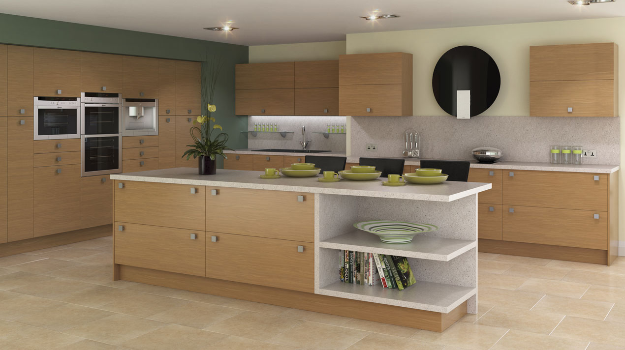 EA Kitchens Contemporary Lissa Oak