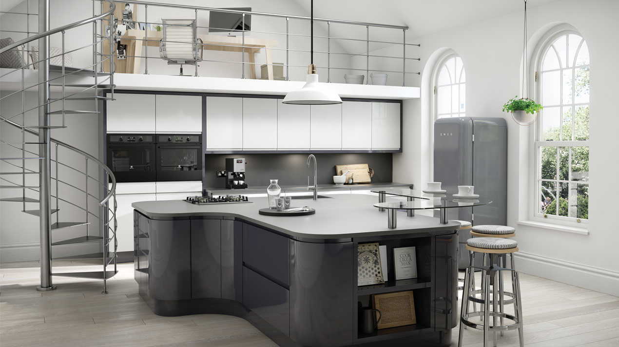 EA Kitchens Fusion Gloss Anthracite