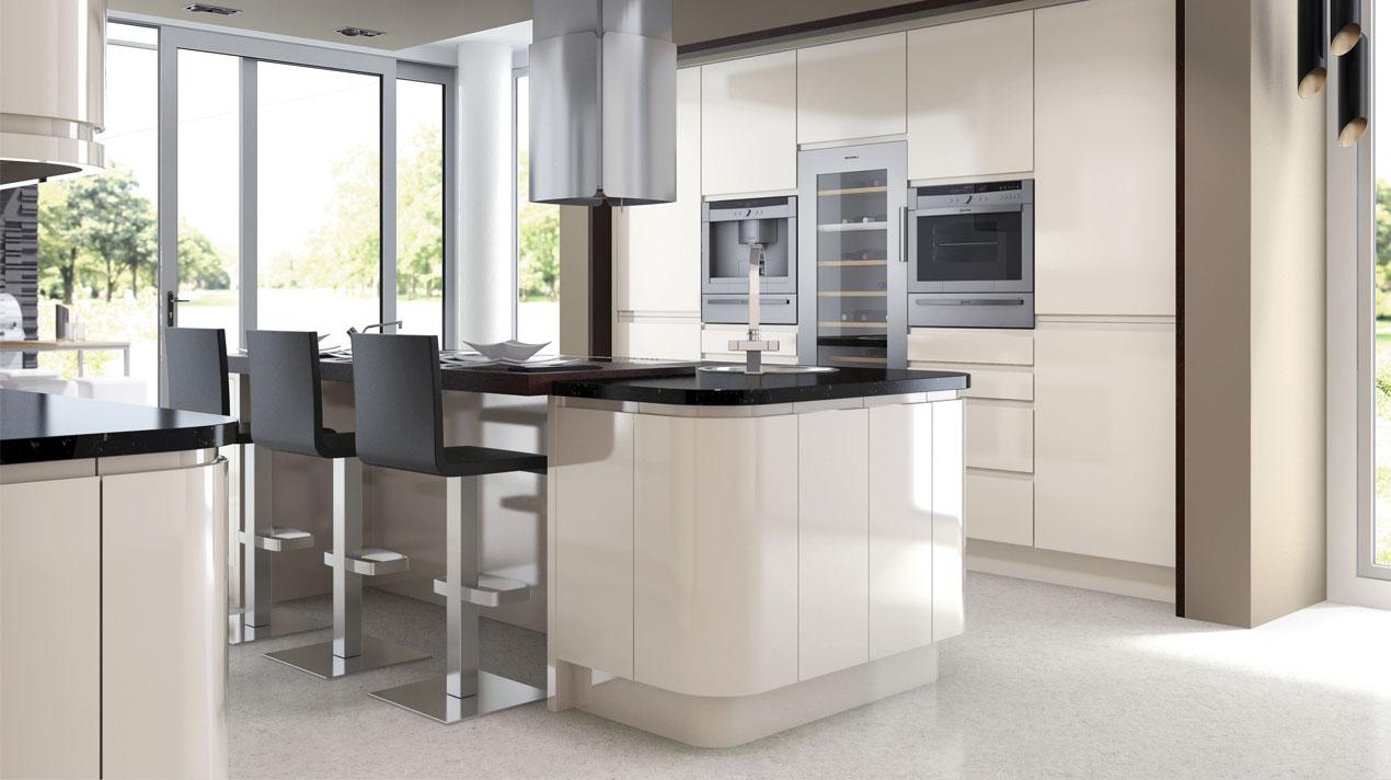 EA Kitchens Fusion Gloss Ivory