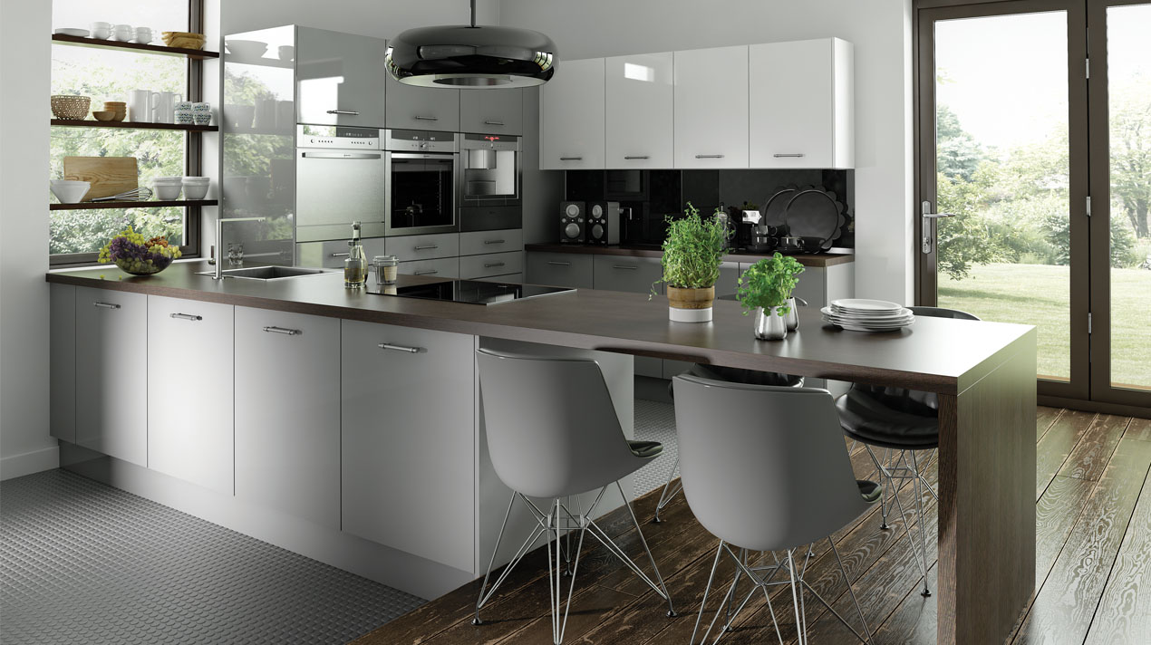 EA Kitchens Logica Gloss Grey