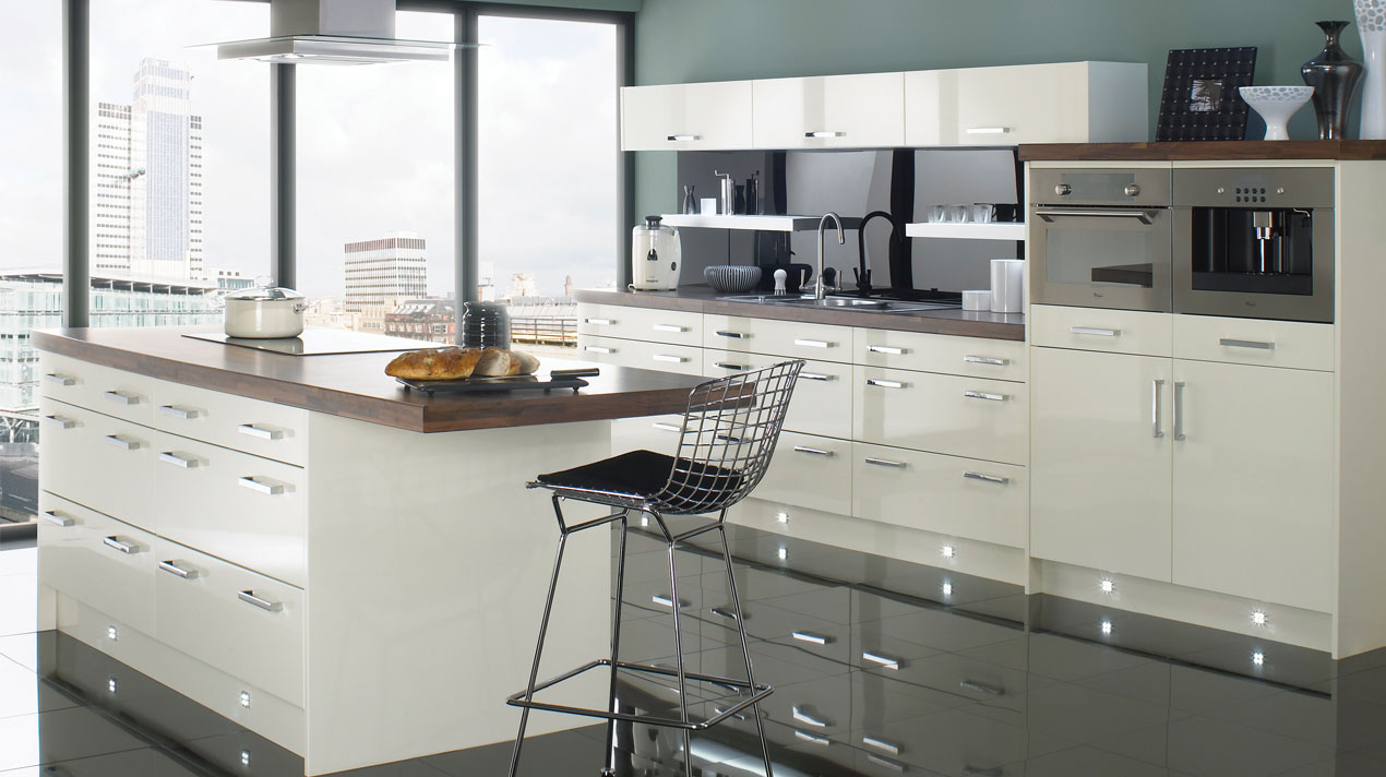 EA Kitchens Logica Gloss Ivory