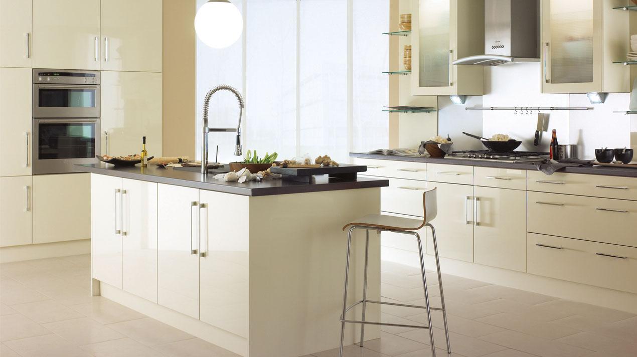 EA Kitchens Logica Gloss Stone