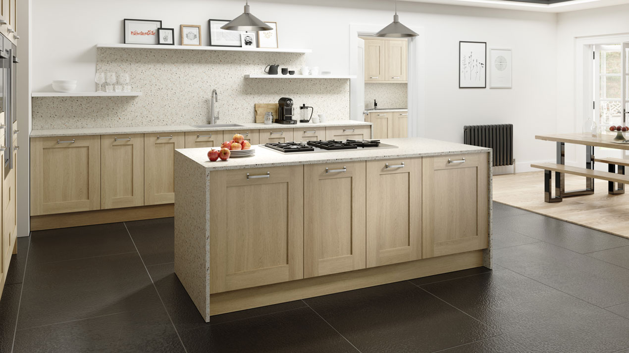 EA Kitchens Sand Oak Wood