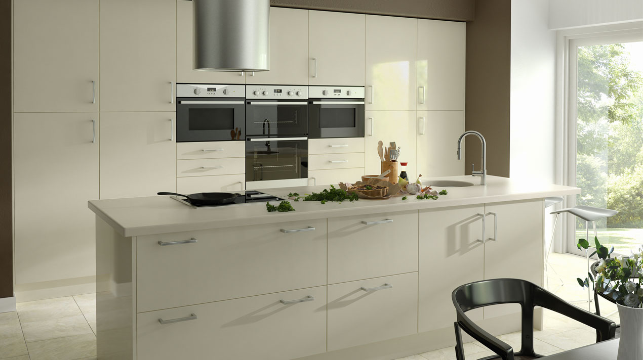 EA Kitchens Zest Gloss Ivory