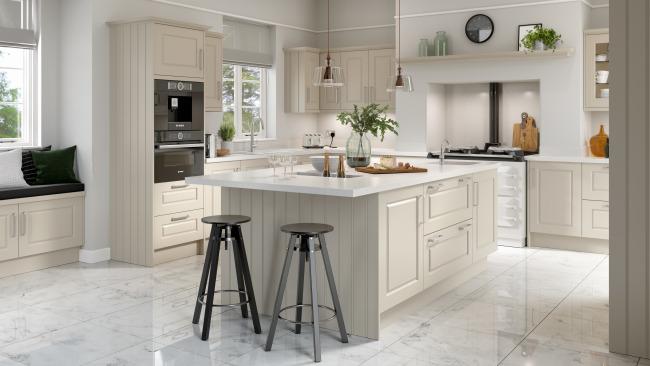 EA Kitchens Davenport Painted Range