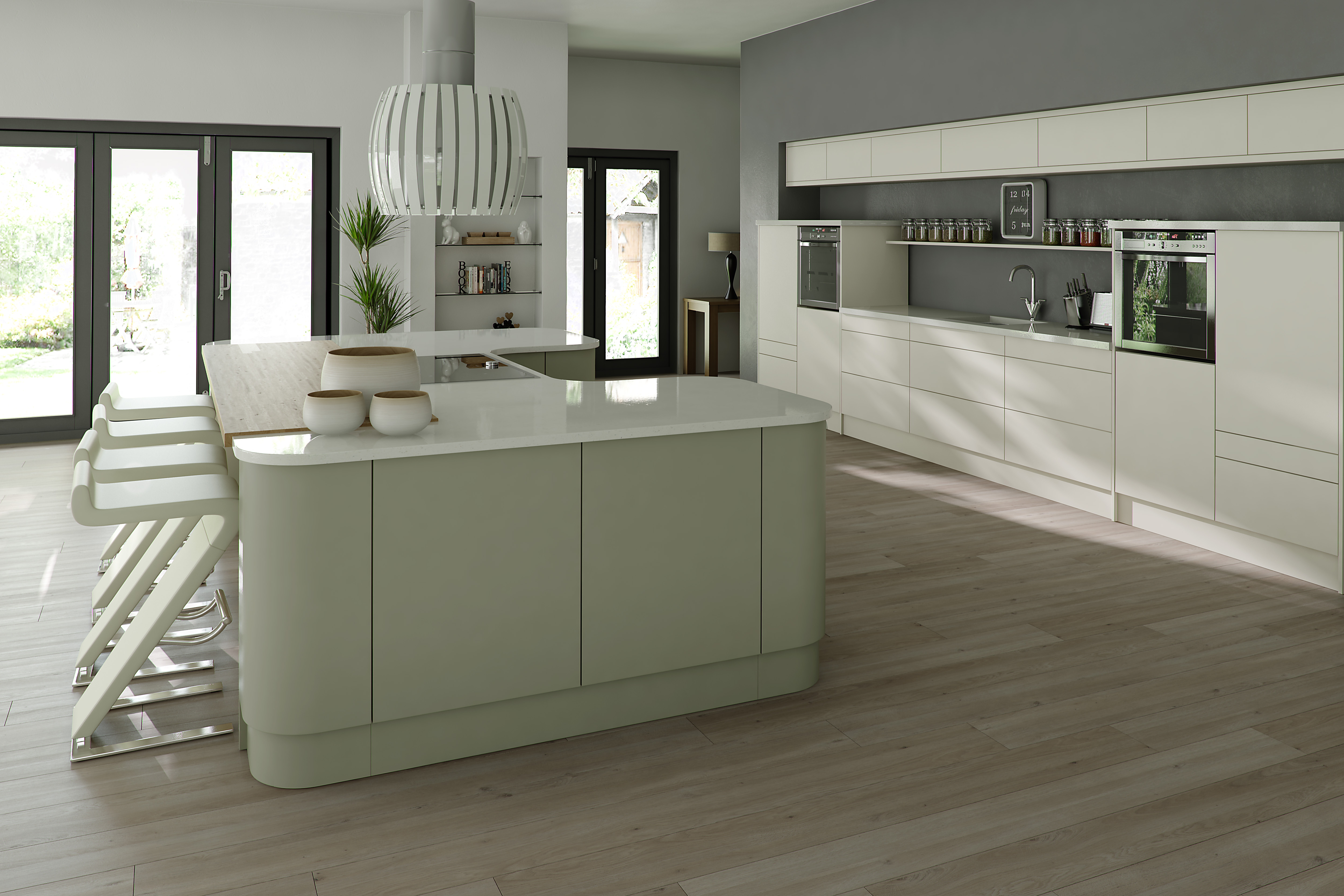 Opaco Painted Ivory & Green