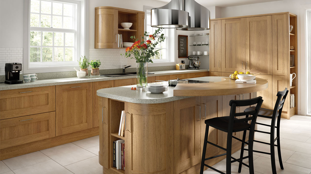 EA Kitchens Shaker Lissa Oak