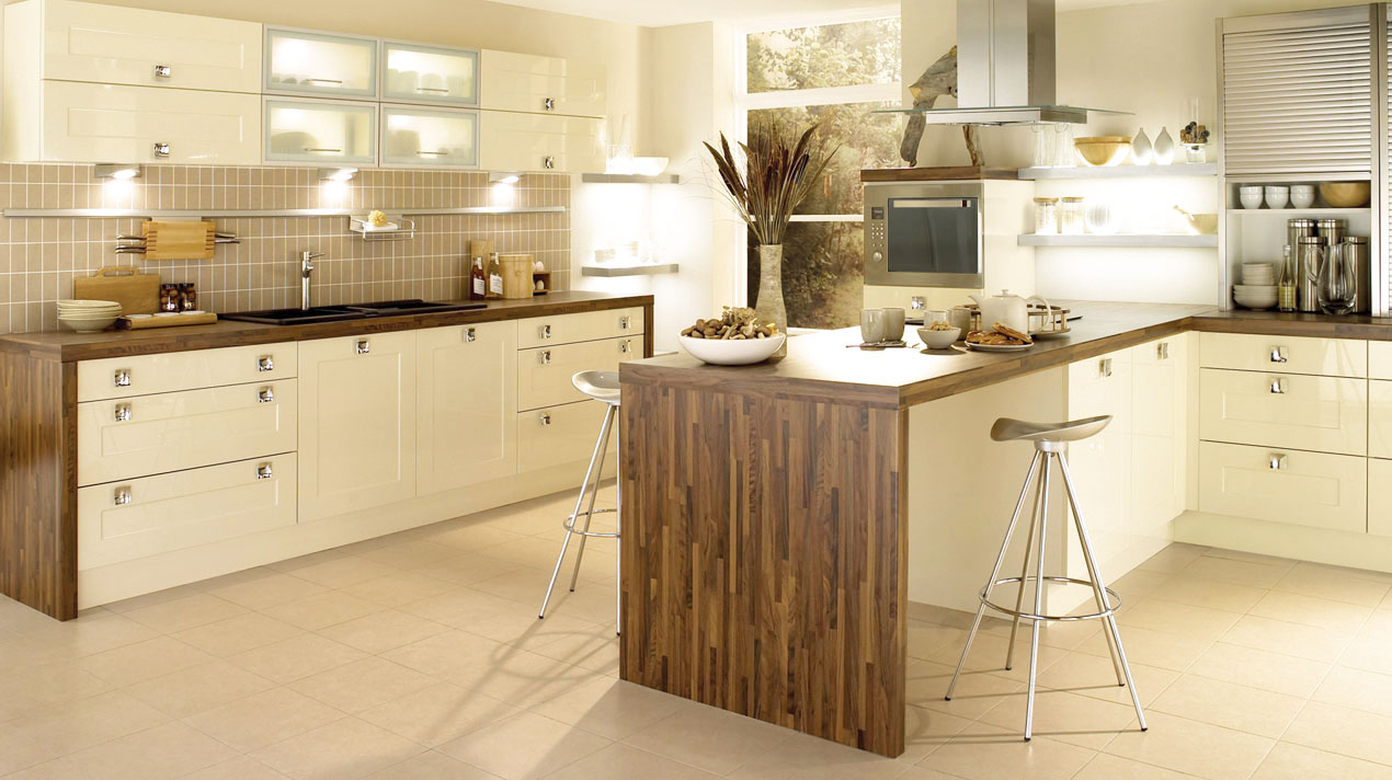 EA Kitchens Shaker Gloss Stone