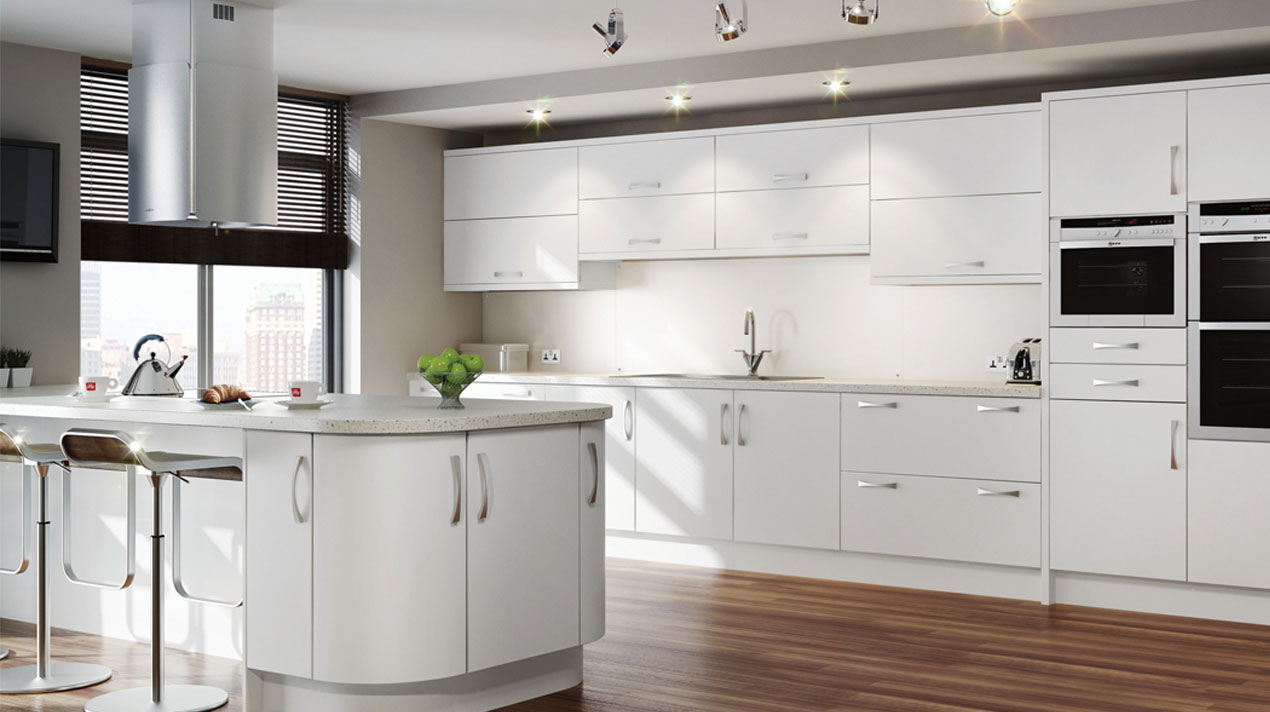 EA Kitchens White Satin