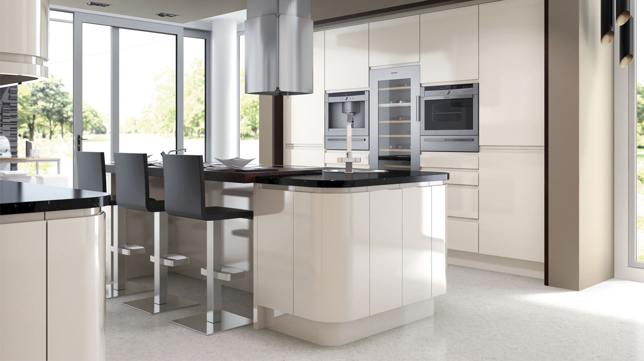 EA Kitchens Fusion Gloss Ivory