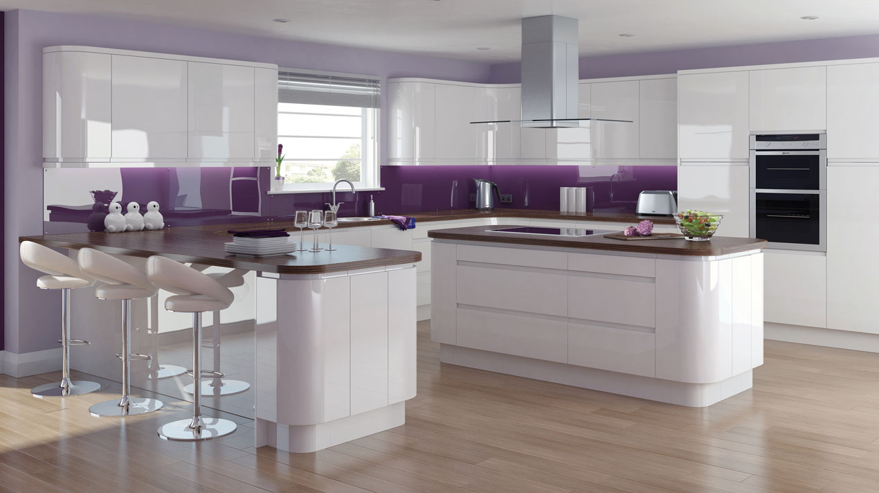 EA Kitchens Fusion Gloss White