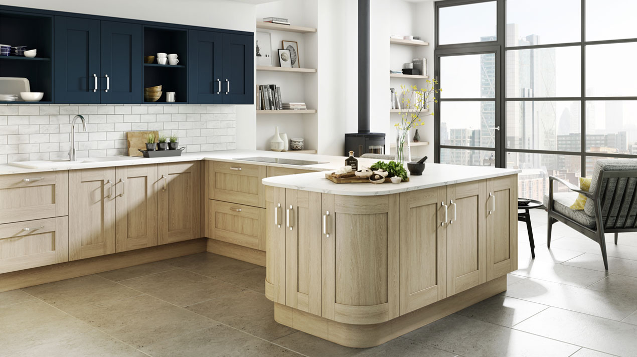 EA Kitchens Shaker Sand Oak