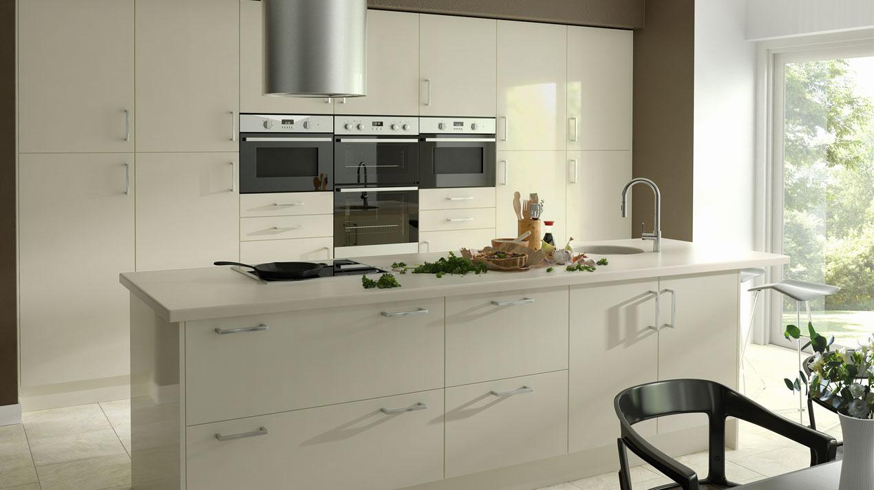 EA Kitchens Zest Gloss Ivory