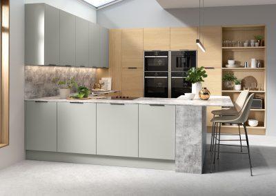 Contemporary Light Grey & Lissa Oak